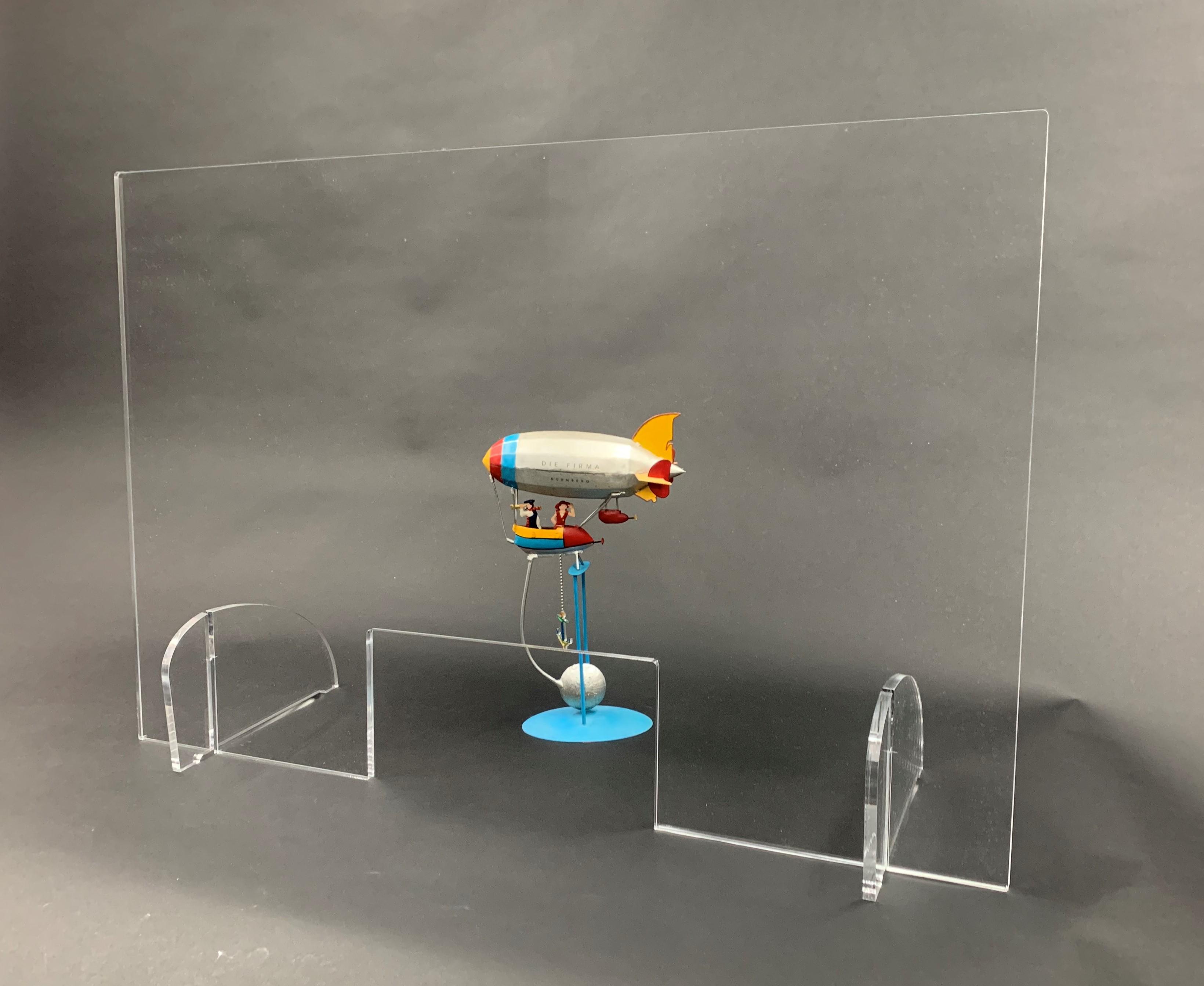 Spuckschutz 900x600mm (bxh) Aufsteller steckbar (Werkzeuglose Montage), inkl. Durchreiche 300x150mm (bxh)