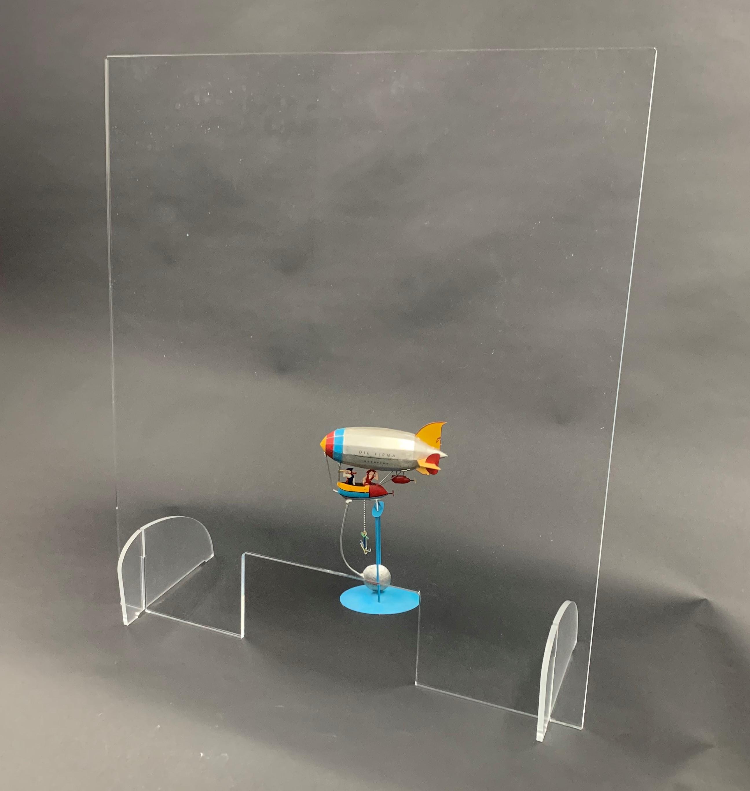 Spuckschutz 800x900mm (bxh) Aufsteller steckbar (Werkzeuglose Montage), inkl. Durchreiche 300x150mm (bxh)